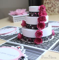 Birthday Cake Exploding Box Card Invitation on Etsy 849 cards