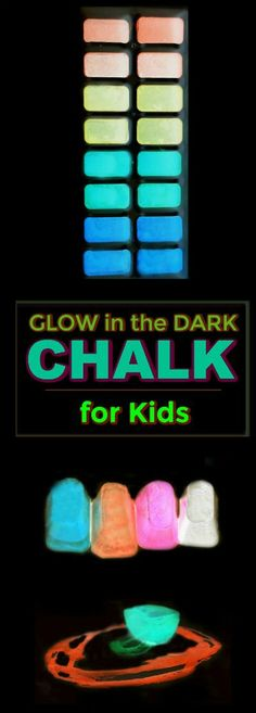 FUN KID PROJECT: Make glow-in-the-dark chalk! (only 3 ingredients!)