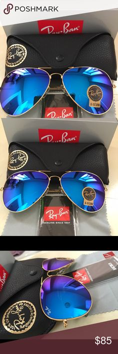 ray ban aviator rb3026 blue mirror glass  authentic ray ban aviator product description brand: ray ban model: rb 3026 frame color