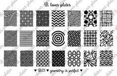 B.01 geometry is perfect nail stamping plates B. by BlovesPlates