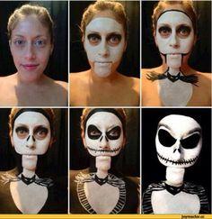 тян,макияж,джек,Хеллоуин,Halloween -приколы на хеллоуин - прикольные костюмы, тыквы, шутки и юмор про хелоуин,песочница,удалённое