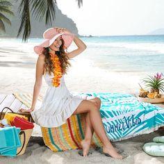 90/160 cm Blau, Weiß Caribbean, Cover Up, Dresses, Fashion, Sunroom Playroom, Waves, Blue, Vestidos, Moda