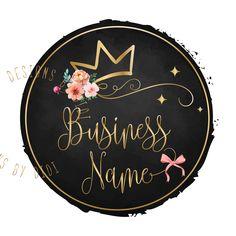 Items similar to Custom Logo Design - Pink gold Logo - Premade Logo Design - crown princess girly Logo - Princess Logo - girls Business Logo, crown logo on Etsy Cake Logo Design, Vector Logo Design, Custom Logo Design, Custom Logos, Business Card Design, Business Card Size, Business Logos, Princess Logo, Clothing Logo Design