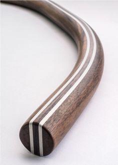 Bonasus Walnut Curved Handlebar | Walnut Handlebar