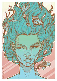 on Behance Pisces Zodiac Art, Zodiac Horoscope, Zodiac Signs, All About Pisces, Behance, Symbols, Stars, Wallpaper, Drawings