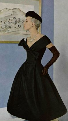Fashion by Christian Dior, 1955.