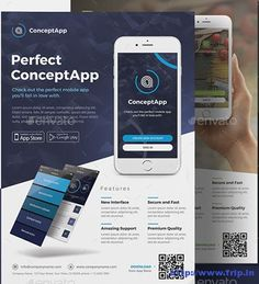 60 Best Mobile App Promotion Flyer Print Templates 2019 - App Templates - Ideas of App Templates - 60 Best Mobile App Promotion Flyer Print Templates 2016 www. Mobile App, Best Mobile, Brochure Design, Flyer Design, App Design, App Marketing, Marketing Flyers, Free Flyer Templates, Print Templates