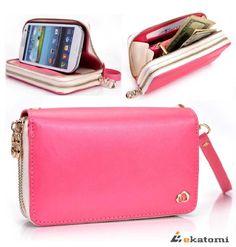 [RunWay] Samsung i9300 Galaxy S3 S III Premium PU Leather Phone Case with Shell / Women's Wallet Wrist-let Clutch - TULIP PINK & WHITE. Bonus Ekatomi Screen Cleaner Kroo http://www.amazon.com/dp/B00EV8IZCM/ref=cm_sw_r_pi_dp_9Y2Gub0EEAYCZ
