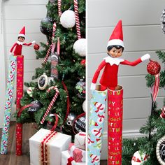 This elf is reaching new heights! #ScoutElfIdeas | Elf on the Shelf Ideas | Easy Elf Ideas | Simple Elf Ideas | Ideas for Scout Elves
