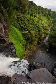 Makahiku Falls along the Pipiwai Trail, Haleakala National Park, Maui, Hawaii