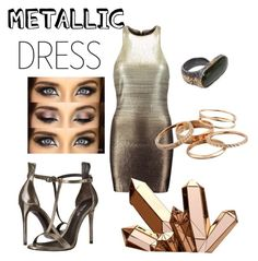 """Metallic Mistress ;)"" by yeliannie ❤ liked on Polyvore featuring Halston Heritage, Rachel Zoe, Bottega Veneta and Kendra Scott"