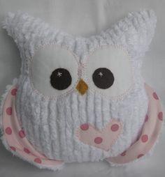 Chubby Chenille Plush Owl $30