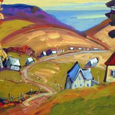 Le chemin des granges par Normand Boisvert  12 x 24 / Huile sur toile   #Quebec #Toile #¨Peinture #Painting #Art #Artist #paysage #landscape Expositions, Land Scape, Les Oeuvres, Painting, Barns, Oil On Canvas, Normandie, Landscape, Artist