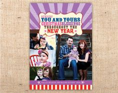 Christmas Carnival (red & purple) Holiday Cards / Printed or DIY – Ianandlola