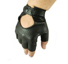 This fine driving gloves are made in Poland in our glove-making family workshop, we have 25-year experience in production. Model made of exclusive, soft and durable perforated lamb leather. Trendy and simple model with strap fastener, very comfortable and nice for driving or cycling. Fingerless.  Color: Black or brown  Leather: lamb.    These gloves would make an ideal gift for yourself or a loved one.   We will make your gloves after we receive the order so processing time takes 1-3…