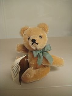 Hermann Vintage Teddy Bear  Born in the 1980s  Gold by GrandmaJer, $34.99