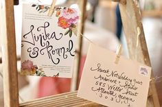 Whimsical Floral Invite by Julia's Poppies
