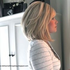 long bob with bangs | Long bob haircut with bangs | Hair Ideas -- Love this but I finally got my hair the length I want so no more crazy hair cuts for me! Lol