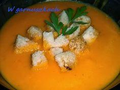 W garnuszkach: zupa krem dyniowo paprykowa
