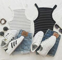 Sneakers femme - Adidas Superstar Rose Gold - Adidas Shoes for Woman Nike Shoes Cheap, Nike Free Shoes, Nike Shoes Outlet, Cheap Nike, Cute Casual Outfits, Summer Outfits, Girl Outfits, Fashion Outfits, Casual Clothes