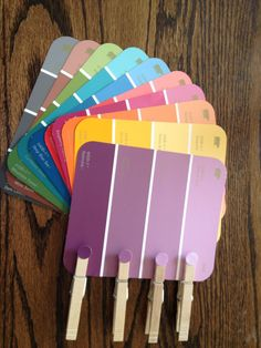 Paint Chip Color Matching Game...great idea for nursing home activity @credits4kim
