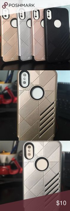 NEW! iPhone 10 / X Case Ultra Slim Elegant CASES Features: Shockproof Case for iphone X luxury case, for iphone X case mobile phone, for iphone X case 100% Brand new and High quality case. Luxury Look!  Fit For: For iPhone X  Colors available:  Gold, rose gold, silver, black Accessories Phone Cases