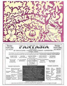 Fantasia May 24th 1991 - Carl Cox, Sasha, Micky Finn, Man Parris