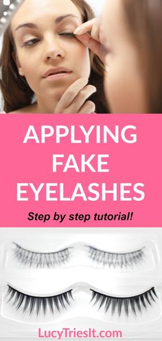 The Easiest Technique To Apply False Eyelashes Yourself, Uncategorized, Need help applying fake eyelashes? Then look no further because this is the tutorial for you! This step by step tutorial is perfect for beginners who . Get Long Eyelashes, Eyelashes How To Apply, Perfect Eyelashes, Applying False Eyelashes, How To Apply Mascara, Fake Lashes, Vaseline Eyelashes, Grow Eyelashes, Mink Eyelashes