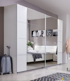 Designed for modern living 'SlumberHaus' bedroom furniture uses clean lines and inspires modern bedroom design ideas. Bedroom Cupboards, Bedroom Doors, Closet Bedroom, Bedroom Furniture, Ikea Closet, Sliding Door Design, Modern Sliding Doors, Sliding Wardrobe Doors, Modern Door