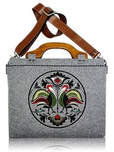 Made in Poland! Notebook bag, handmade / www.folkstar.pl