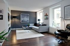 Living room, clean and simple