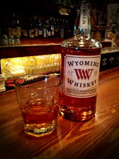 Wyoming Whiskey at the Crowbar and Grill, downtown Laramie, WY