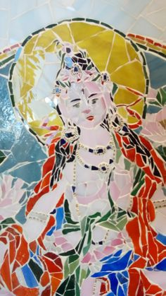 Budda Tara Mosaico in vetro
