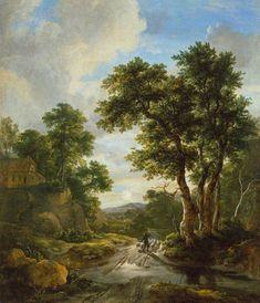 Jacob van Ruisdael - Zonsopgang in een bos