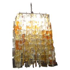 MURANO INTERLOCKING CASCADING GLASS CHANDELIER | From a unique collection of antique and modern chandeliers and pendants  at http://www.1stdibs.com/furniture/lighting/chandeliers-pendant-lights/