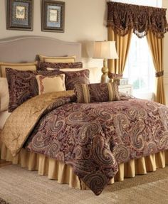 Make your bedroom fit for a king with this Estate by Croscill Regalia bedding collection. Home Decor Bedroom, Bed Linens Luxury, Luxury Bedding Collections, Comforter Sets, Bed, Home, King Comforter Sets, Croscill Bedding, Bedding Sets