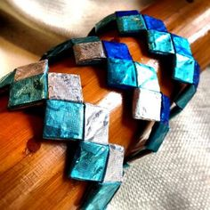 Gum Wrapper Bracelet by RebeccaJewelry for $5.00 #recycled #handmade #zibbet