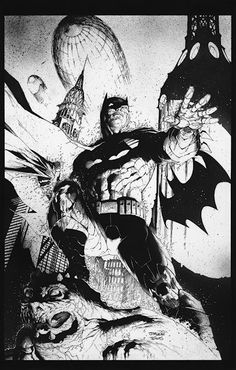 Fun to see someone else ink Jim Lee #Batman art for Big Wow Supercon auction. Travest Charest #comicsart