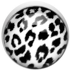 5mm White Leopard Print Dermal Anchor Top #dermal #leopardprint #bodycandy #piercing #microdermal #trending $4.99