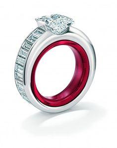 Gebruder Schaffrath 'Princess' Platinum diamond engagement ring