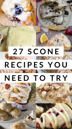 27 Scone Recipes You Need To Try - Captain Decor Scones are my favorite type of breakfast food. It's even better when it's around the holidays! Take a look at these recipes! Number 18 is my favorite! Scone Recipes, Tea Recipes, Brunch Recipes, Gourmet Recipes, Baking Recipes, Breakfast Recipes, Brunch Ideas, Dessert Recipes, Scone Recipe Easy