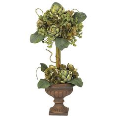 Our Artichoke topiary silk centerpiece is a very interesting piece and draw much attention.  It is presented by ExcellentSilkFlowers.com.