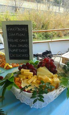 Lunch buffet in a boat