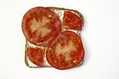 tomato & lemon pepper toast. rabbit food for my bunny teeth