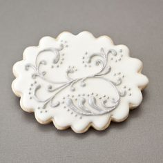 Wedding Cookies  Silver  White Vintage by PastryTartBakery, $48.50