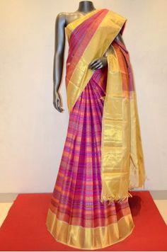 Multicolor Pure Kanjeevaram Silk Weaved Saree Product Code: AB210318