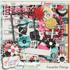Favorite Things by Sherry Ferguson http://store.gingerscraps.net/Favorite-Things-Kit.html