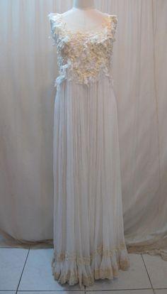 Custom Made Lovely Chiffon Long Wedding Dress with Lower Back