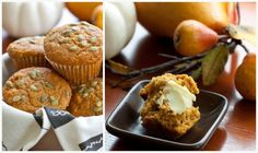 spiced pumpkin muffins topped with pumpkin seeds adapted from Joanne Chang's Flour.  (A Sweet Spoonful)