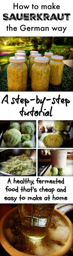 Learn how to make sauerkraut from a real German kraut! This is a step by step picture tutorial on how to ferment sauerkraut.  It's so healthy for you!